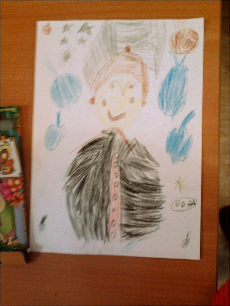 """This is not my drawing, but that day i could not do better. This was made of one of the """"Raduga """" visitors. That is center for disabled peaople. We work there and i love this drawing!"""