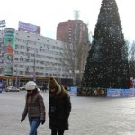 We are counting the distance between Lenin statue and Christmas Tree